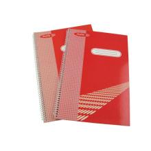 Taille 295 * 200mm Couverture imprimée Spiral Notebook Hardcover Note Pad School Fournitures de bureau