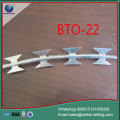 BTO22 razor wire SUS304 concertina barbed wire