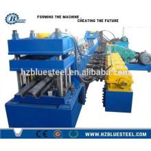 Máquina formadora de rollo de tres vías Guardrail PLC con corte continuo automático