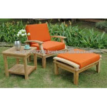 Solid wood Outdoor / Garden Furniture Set - Sunlounger