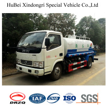 4ton 4cbm Dongfeng Euro 4 Self Suction Water Tanker Truck