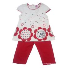 Лето дети девочка костюм Детская одежда (кв-001)