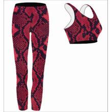 Habillement respirable de yoga respirable d'humidité de mode pour des dames