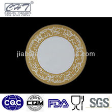 A010 high quality and new design ceramic dinner plate for hotel