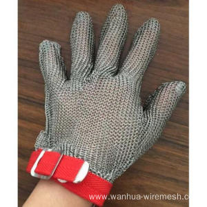 stainless steel butcher hand safe glove