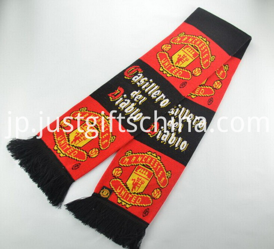 Promotional Double Jacquard Fabric Knitted Scarf3