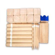 Juguetes de madera maciza natural para niños Viking Chess