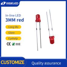 Contas de lâmpada de alta potência com 3mm de cabelo ruivo vermelho pé curto