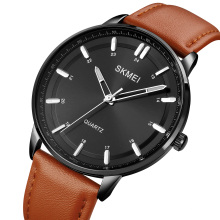 SKMEI 1662 Private Label Brand Man Wristwatches Japan Movt casual Leather Quartz Watches