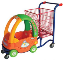 Steel and Plastic Children Shopping Cart Toy