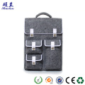 High quality felt backpack school laptop bag