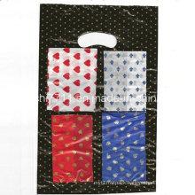 Plastic Printing Punching Handle Shopping Bag