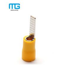 Cobre amarelo PVC isolado terminal dos terminais da lâmina do tamanho 4-6mm do fio