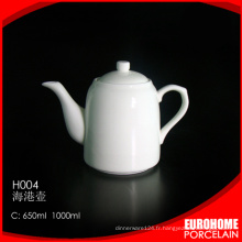 Vente chaude théière porcelaine fine élégante porcelaine café/rea H004