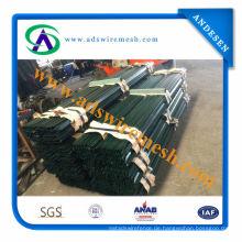 Amerikanischer Stahl verzierte T Pfosten / galvanisierte / grüne Farbe T Pfosten (ADS-TP-08)