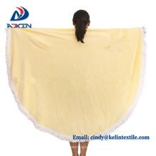 100% Cotton Reactive Printing Velour Large Round Beach Towel