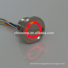 5v-24v red green dual led Illuminated metal stainless steel Anti vandal piezo Switches , waterproof inline touch button switch