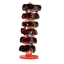 Rack de exposição giratória de óculos de sol com balcão acrílico personalizado