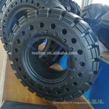 pneu solide 6.50-10 avec trou bon pour Dissiper la chaleur