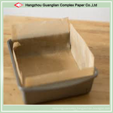 Custom Natural Unbleached Brown Square Baking Paper Liner
