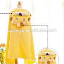 Meninos ou meninas com capuz de banho 100% algodão uso para banho, praia, piscina (bonito leão-L)