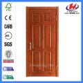 *JHK-006 Six Panel Doors Interior Double Doors Veneer Main Door Designs