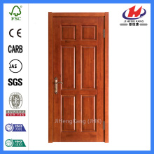 *JHK-006 Six Panel Doors Interior Double Doors Veneer Main Door Designs