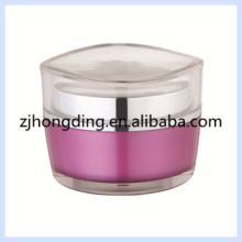 Lotus leaf better quality and selling especial shape 15/30/50g capacity clear plastic jar