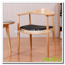 Ensemble de chaise de table de café / chaise de café en bois antique en bois