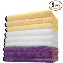 logo microfiber towel for hair /kitchen/hand/face/bath/beach/ car clean aliexpress microfiber fabric