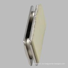 Rectángulo Tipo de Acero Insignia magnética