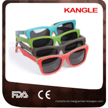 Top sell designer with case italy design wood sunglasses
