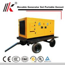 Gerador diesel móvel do rv 120kw rv com central eléctrica silenciosa móvel