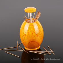 Hot Selling Creative Automatic Toothpick Holder Egg Plastic Toothpick Box Toothpick Can