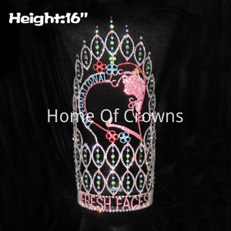 16 pulgadas de altura grandes coronas de desfile personalizadas grandes