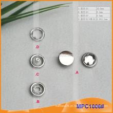 Prong Snap botão com Nickle Free Metal Cap MPC1006