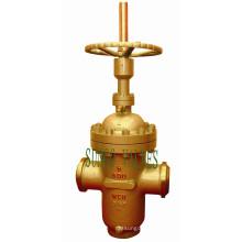 Válvula de porta de aço carbono