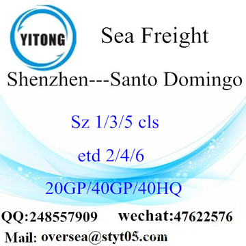 Shenzhen Port Sea Freight Shipping Para Santo Domingo