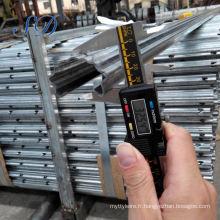 Poteau en treillis métallique en acier inoxydable pour vignoble