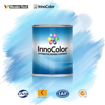 Tinta acrílica com sistema de fórmula para pintura automotiva