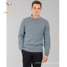 Men's Cable knit Crew neck Jumper Sweater