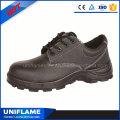Sapatos de trabalho de segurança de fábrica de couro preto homens de construção Ufa023