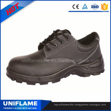 Black Leather Factory Constuction Men Safety Work Shoes Ufa023
