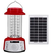 Linterna solar con panel solar y función de reproducción de MP3