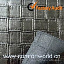 PVC cuir embossé pour sac Sofa
