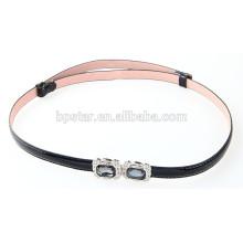 2015 New Fashion Ladies Skinny Metal Pin Buckle Belt