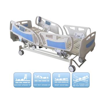 Электрическая пятифункциональная больничная кровать ICU с стандартом ISO