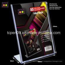 Bon marché et bonne qualité en plastique transparent porte-cartes pour papeterie