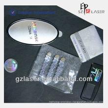 Hologram Rainbow effect Nickel metal label for mobile phone