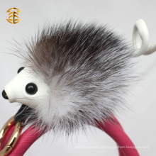 Popular New Keyring Accessory Genuine Fox Fur Custom Hedgehog Fur Keychain